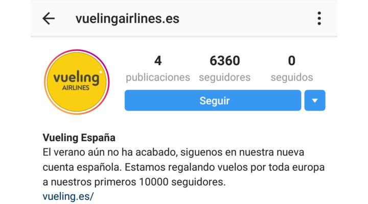 """Imagen - Cuidado con los vuelos que """"regala"""" Vueling en Instagram"""