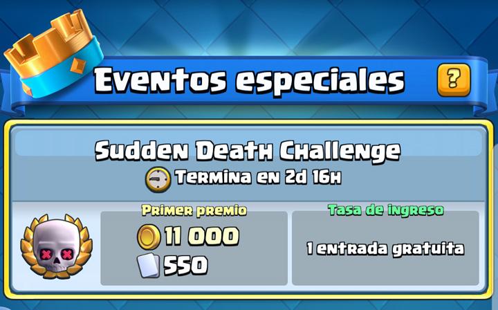 """Imagen - """"Muerte Súbita"""", un nuevo desafío llega a Clash Royale"""
