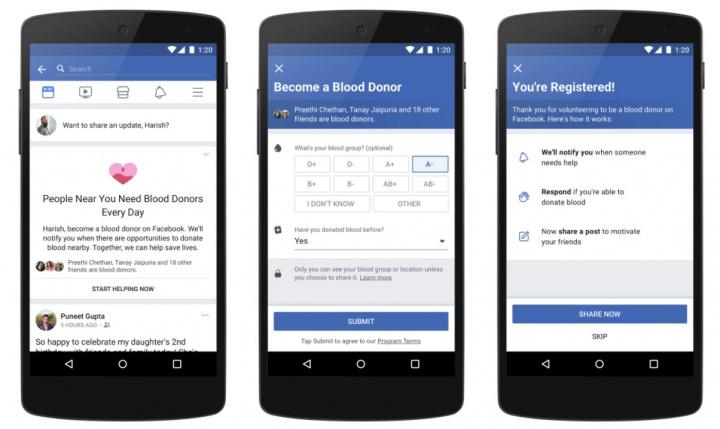 Imagen - Facebook promoverá las donaciones de sangre
