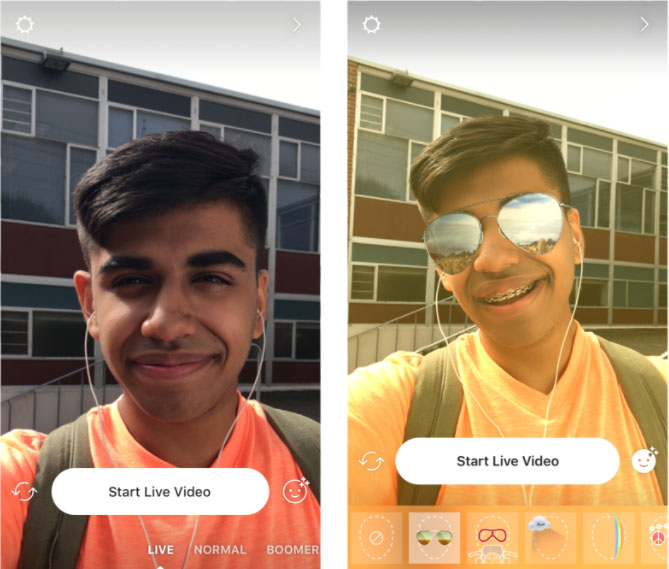 Imagen - Instagram ya soporta máscaras y filtros en los vídeos en directo