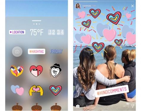 """Imagen - Instagram añade stickers de corazones por la iniciativa """"Kind Comments"""""""