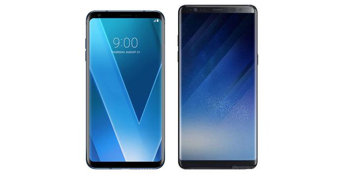 LG V30 vs Galaxy Note 8: ¿Cuáles son las diferencias?