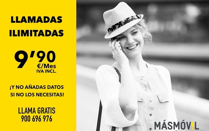 Imagen - MásMóvil ofrece llamadas ilimitadas por 9,90 euros al mes
