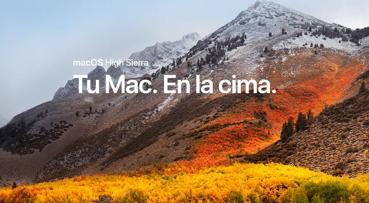 Descarga ya macOS High Sierra en tu Mac