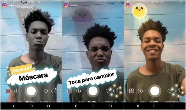 Imagen - Instagram añade nuevas máscaras del tiempo meteorológico