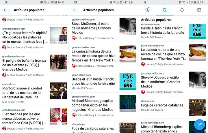 """Imagen - Twitter añade los """"Artículos populares"""""""
