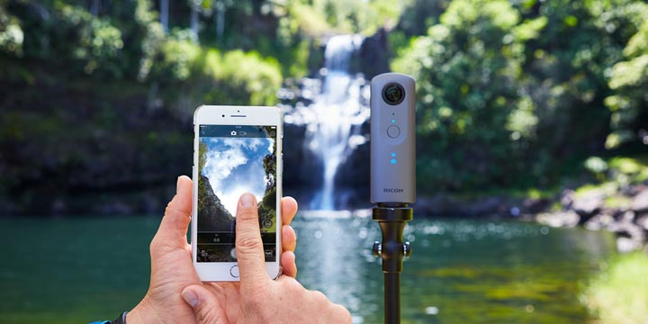 Imagen - Theta V, la cámara portátil que hace fotos en 360 grados y graba en 4K