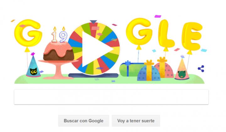 Imagen - Google lanza un Doodle de una ruleta por su 19 compleaños