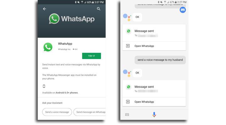 Imagen - WhatsApp ya permite enviar notas de voz mediante Google Assistant
