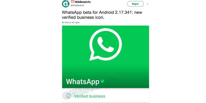 Imagen - WhatsApp añade un nuevo icono para las empresas verificadas