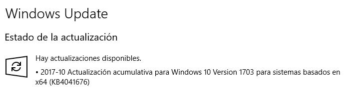 Imagen - La actualización KB4041676 para Windows 10 no consigue instalarse