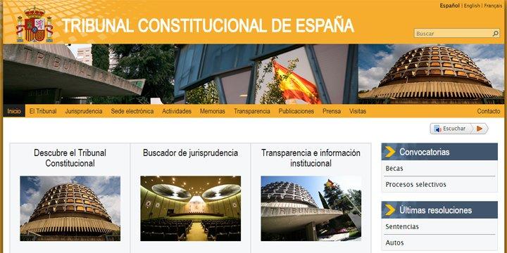 """Anonymous tumba la web del Tribunal Constitucional en la """"Operación Cataluña"""""""