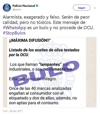 """Imagen - Cuidado con el bulo del aceite de oliva lampante """"no comestible"""" que circula en WhatsApp"""