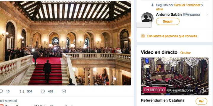Imagen - Twitter estrena emisión en directo de noticias en España