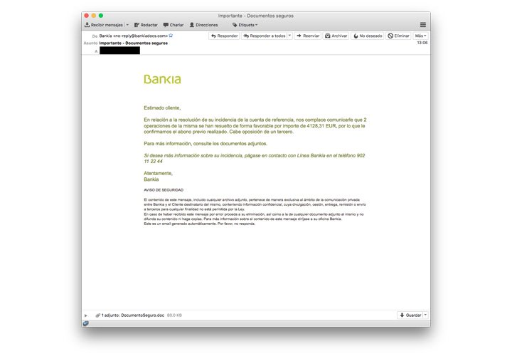 Imagen - Cuidado al activar los macros en Word: un troyano bancario usa Bankia como phishing