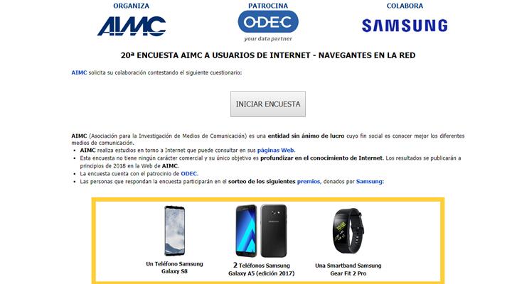 Imagen - La encuesta AIMC 2017 sobre los internautas españoles sortea un Galaxy S8