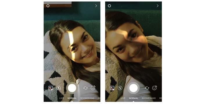 Nuevos filtros en Instagram: un rayo de luz y una motocicleta