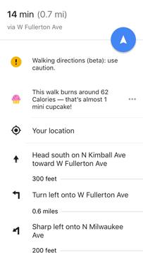 Imagen - Google Maps elimina el polémico contador de calorías basado en cupcakes