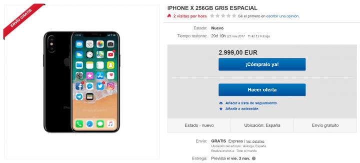 Imagen - Ya se puede comprar el iPhone X por más de 2.000 euros en eBay y Wallapop