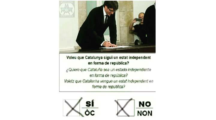 Imagen - Los mejores memes de Puigdemont por la fallida declaración de independencia de Cataluña