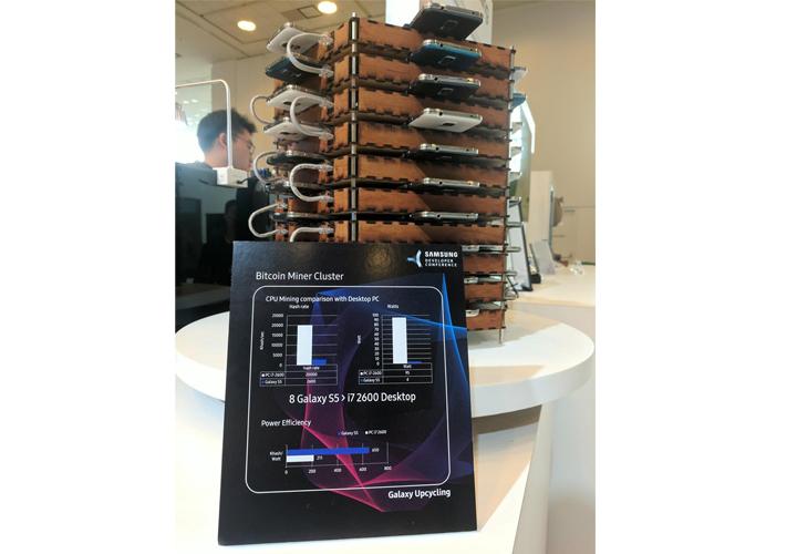 Imagen - Samsung combina 40 Galaxy S5 para minar Bitcoin