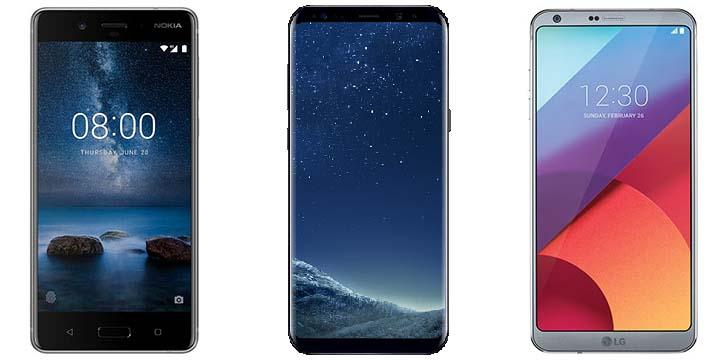 Nokia 8 vs Galaxy S8 vs LG G6: ¿Cuáles son las diferencias?