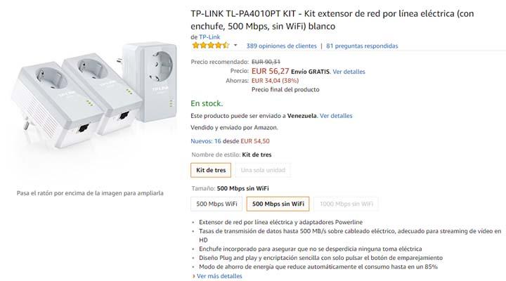 Imagen - Oferta: TP-Link TL-PA4010PT, un kit de 3 PLC por 56 euros
