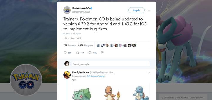 Imagen - Pokemon Go se actualiza para iOS y Android con correcciones de errores