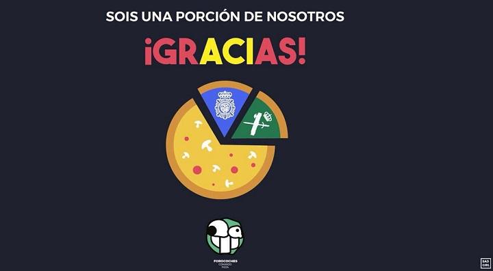 Imagen - Forocoches envía 150 pizzas a la Policía Nacional como muestra de apoyo