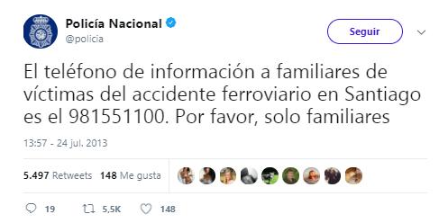 Imagen - La Policía Nacional alcanza los 3 millones de seguidores en Twitter