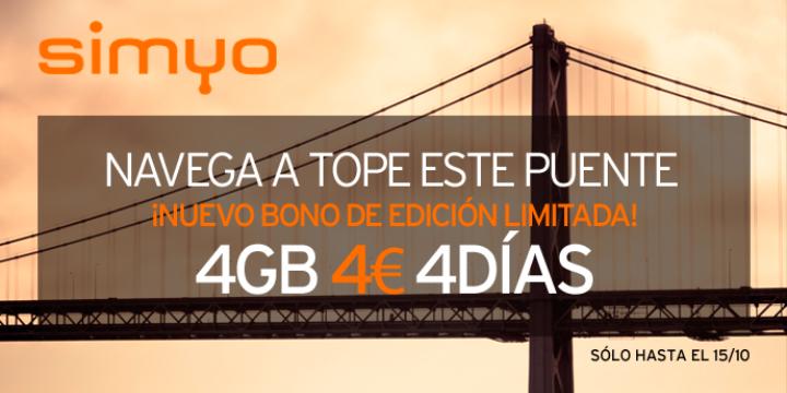 Imagen - Simyo lanza un bono para el puente de octubre: 4GB para 4 días por 4 euros