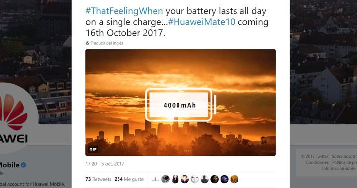 Imagen - Huawei Mate 10 tendrá una gran batería de 4.000 mAh