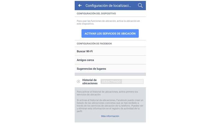 Imagen - Cómo desactivar el seguimiento de ubicación en Facebook