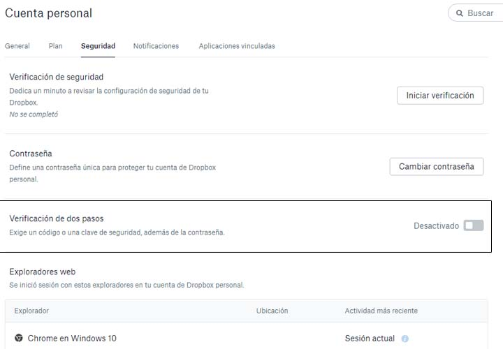 Imagen - Asegura tu cuenta de Dropbox con la verificación en dos pasos