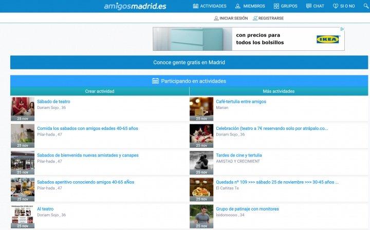 Imagen - Amigos Madrid, la web para conocer gente en Madrid