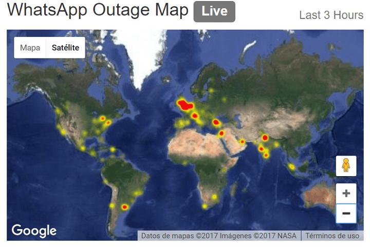 Imagen - WhatsApp sufre una caída en varios países