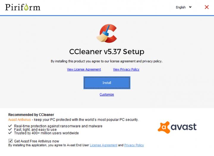 Imagen - Al instalar CCleaner, se instala Avast
