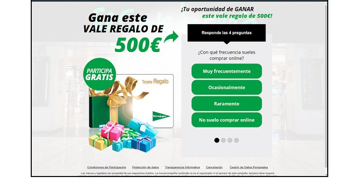 Imagen - Cuidado con los falsos cupones de 500 euros de El Corte Inglés, Amazon y más