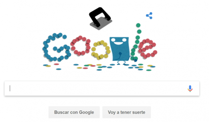Imagen - La Historia de la perforadora de papel protagoniza el Doodle de Google hoy