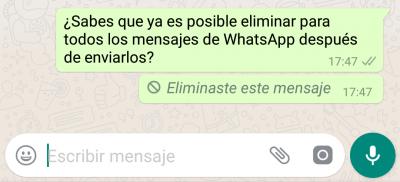 """Imagen - Cuidado con el uso que le das a """"eliminar mensajes"""" en WhatsApp: te podrían expulsar"""