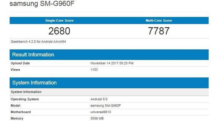 Imagen - Samsung Galaxy S9 se filtra en especificaciones e imágenes