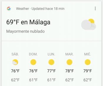 Imagen - Google muestra temperaturas muy altas por error en Android