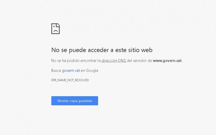 Imagen - Las páginas del Govern y el President en Cataluña son bloqueadas por el artículo 155