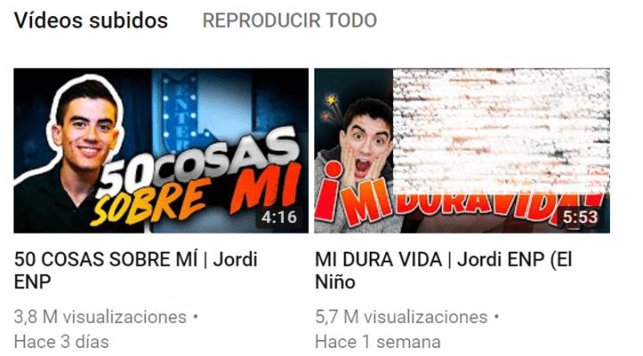 Imagen - Jordi ENP estrena canal en YouTube y consigue 780.000 seguidores en 2 vídeos