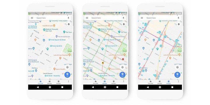 Google Maps renueva su diseño: nuevos colores e iconos, mejores mapas y más
