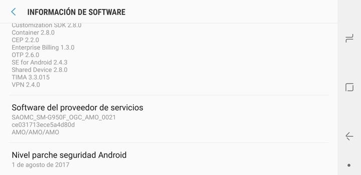Imagen - Los Galaxy S8 en España no reciben ningún parche de seguridad desde agosto