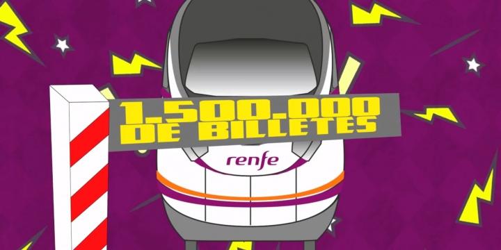Cyber Week de Renfe: 1,5 millones de billetes con descuentos de hasta el 70%