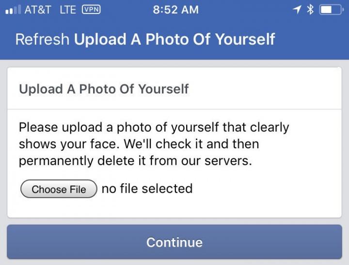 Imagen - Facebook te pedirá un selfie para confirmar que eres un usuario real