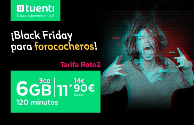 Imagen - Las tarifas forococheras de Tuenti ofrecen 6 GB por 8,5€ por el Black Friday