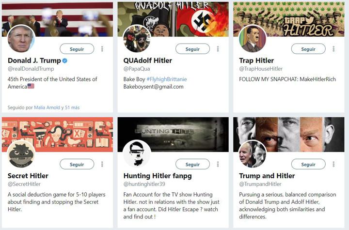 Imagen - Si buscas Hitler en Twitter, aparece Donald Trump